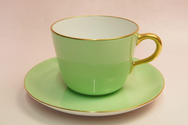 プレゼント ギフトラッピング対応 誕生日プレゼント セール特別価格 母の日 女性 父の日 モーニング碗皿 ライトグリーン蒔き 男性 新作通販 大倉陶園 敬老の日