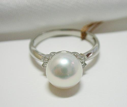 8mm 本真珠 の プラチナ Pt900リング【smtb-TD】【saitama】