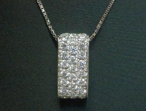 VSクラス:H&Q 1.30ctダイヤのシンプル◆プラチナネックレス