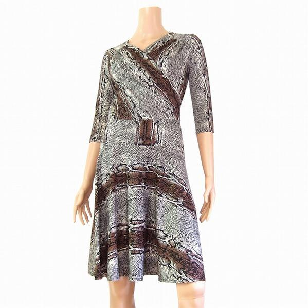 7ba2e1fafb17c9 ☆Otto  Otto   jersey material  7 share sleeve   snake pattern style    aesthetic dress   small size S 7    Lady s in the spring and summer