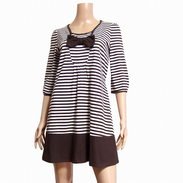 628fa4d4c36b Tops Lady's in the spring and summer for TO BE CHIC toe B chic horizontal  stripes ...
