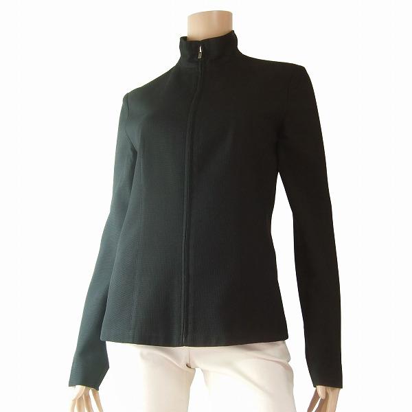 【中古】カルバンクライン CK Calvin Klein 素敵ジップアップジャケット 6号(9号/Mサイズ相当) 黒 綿・コットン 絹・シルク混 春秋向け アウター