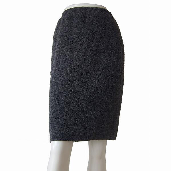 【中古】ビスケー BC ふっくらニットスカート 小さいサイズ(7号/Sサイズ相当) グレー モヘヤ混 もこもこ編み 秋冬向け ボトムス レディース