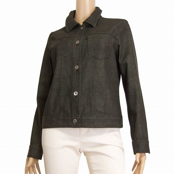 c7a9d423b Outer Lady's in spring and summer to go out for ジャンニロジュディチェ GIANNI LO  GIUDICE denim jacket notation 40 (11 equivalency) gray