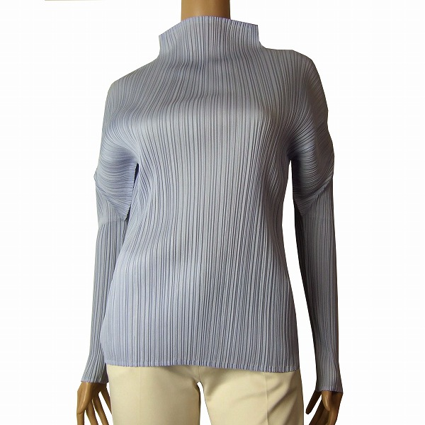 d13f3a27c25 In autumn in the spring and summer tops Lady s for pleats please PLEATS  PLEASE delicate pleats cut-and-sew (2 3 size equivalency) light blue