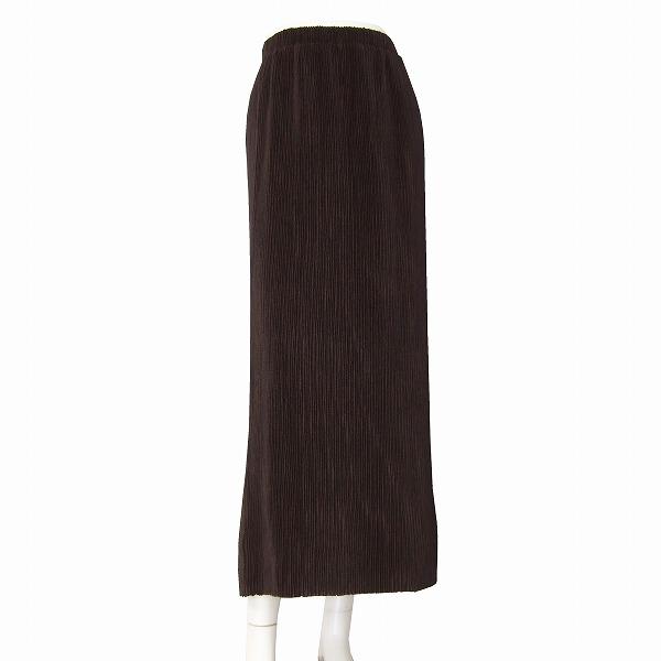 【中古】スペッチオ SPECHIO 美形タイトスカート 表記40号(Lサイズ相当) 茶色/ブラウン 繊細なプリーツデザイン 春春向け ボトムス