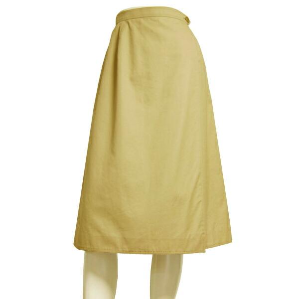 【中古】バーバリー BURBERRYS 美的ラップスカート 表記11号(9号/M相当) ベージュ 綿コットン100% お出掛け 春夏秋向け ボトムス レディース