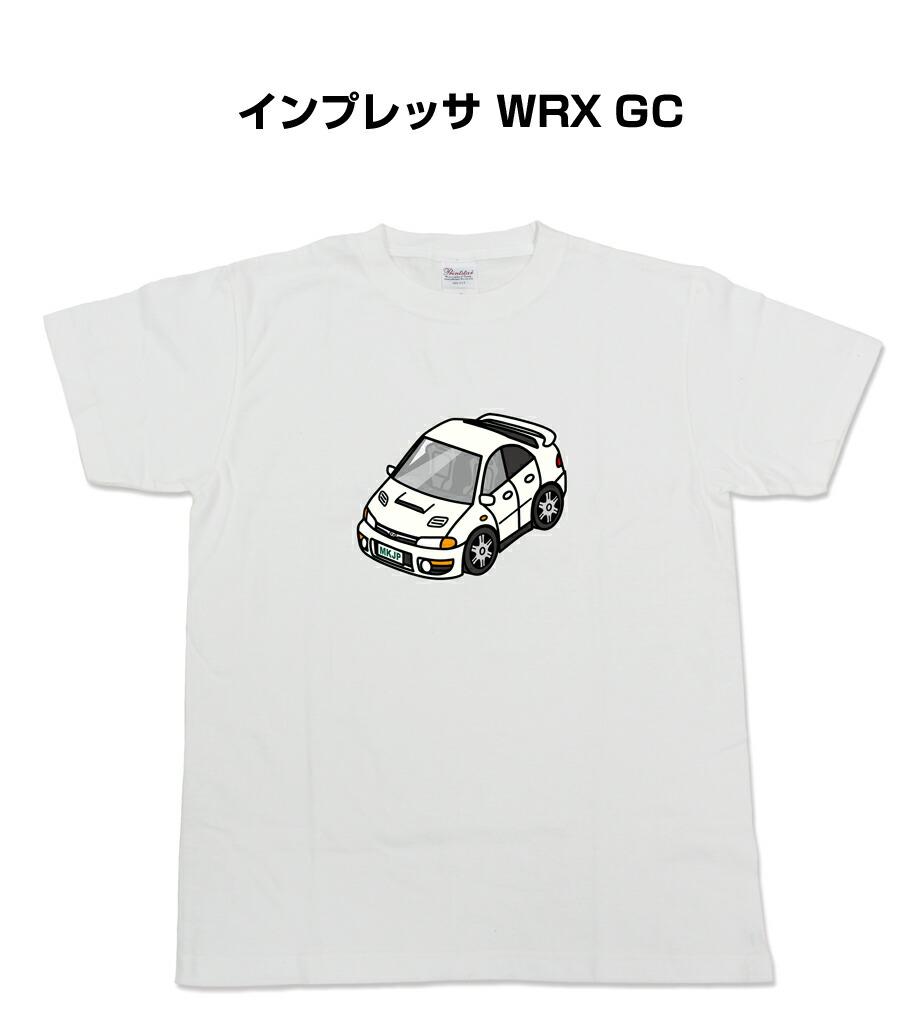 Tシャツ カスタマイズTシャツ シンプル 車特集 スバル インプレッサ WRX GC 送料無料