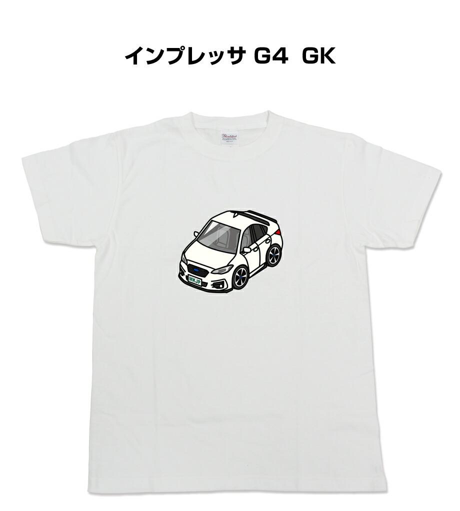 Tシャツ カスタマイズTシャツ シンプル 車特集 スバル インプレッサ G4 GK2/GK3/GK6/GK7型 送料無料