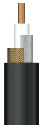DXアンテナ 2K・4K・8K対応 同軸ケーブル(5C)(黒)(JIS規格品) 100m巻 S5CFBS100