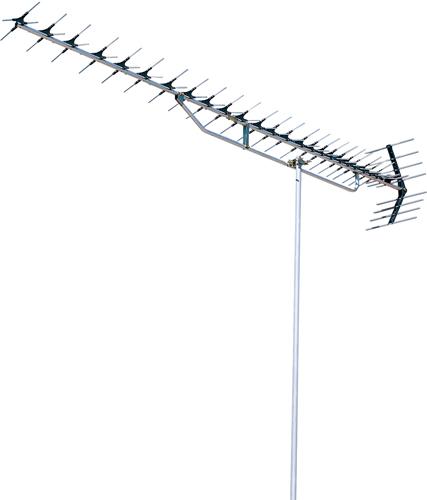 DXアンテナ オールチャンネル 高性能形 UHF27素子アンテナ(パラスタック式) UAX27P1 (超弱電界用)