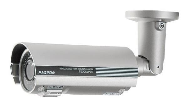 〔送料無料〕 マスプロ PoE対応 中距離撮影用カメラ TS2CC2POE (有線LAN PoE専用)