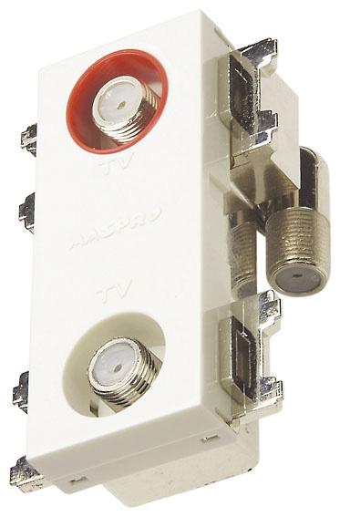 マスプロ 4K・8K衛星放送(3224MHz)対応 直列ユニット 2DWKTD-B (2端子型、電源挿入型テレビ端子)