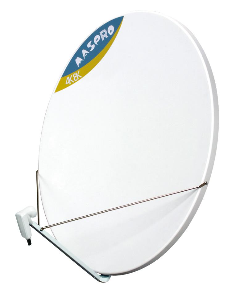 マスプロ 4K・8K衛星放送(3224MHz)対応 BS・110°CSアンテナ 120cm BC120RL (右左旋円偏波対応)
