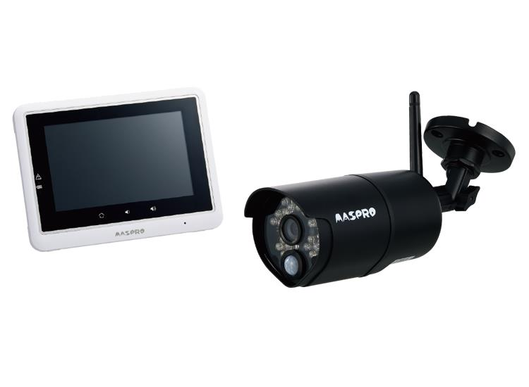 〔送料無料〕 マスプロ モニター&ワイヤレスカメラセット WHC5M