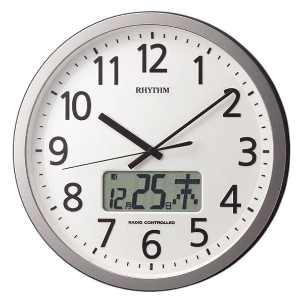 「スーパーセールポイント5倍」設定した時間にチャイムを鳴らす壁掛け時計 リズム 電波時計 4FN405SR19 文字入れ対応、有料 取り寄せ品