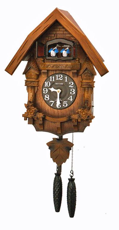 「スーパーセールポイント5倍」はとトケイ ハト時計 壁掛け時計 カッコーテレス リズム時計 RHYTHM 掛時計 4MJ236RH06 文字名入れ不可 取り寄せ品