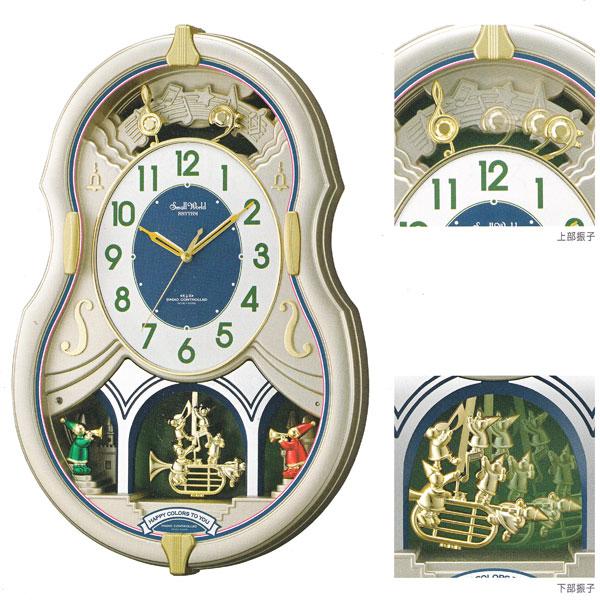 「スーパーセールポイント5倍」メロディ 電波時計 壁掛け時計 スモールワールドカラーズ 4MN543RH18 掛時計 リズム時計 文字入れ対応、有料 【取り寄せ品】