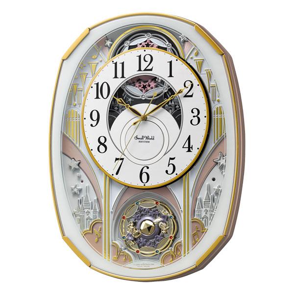 「スーパーセールポイント5倍」からくり時計 メロディ 電波時計 4MN551RH03 スモールワールドノエルS リズム RHYTHM 文字入れ対応、有料 取り寄せ品