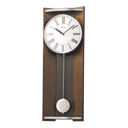 「スーパーセールポイント5倍」柱時計 振り子付時計 壁掛け時計 4MPA05RH06 リズム RHYTHM 文字書き不可 取り寄せ品