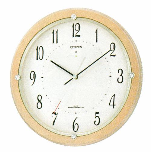 掛時計 シチズン ソーラー電波時計 壁掛け時計 かけ時計4MY798-007 文字入れ対応、有料 取り寄せ品