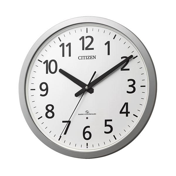 「スーパーセールポイント5倍」壁掛け時計 電波時計 スリーウェイブ 4MY855-019 掛時計 シチズン 文字入れ対応、有料 取り寄せ品
