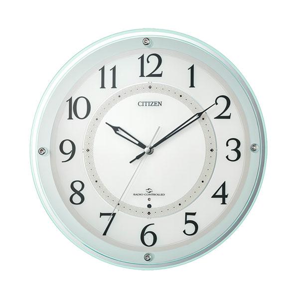 「スーパーセールポイント5倍」壁掛け時計 電波時計 AMラジオの報時も受信 4MY859-005 シチズン CITIZEN 文字入れ対応、有料 取り寄せ品