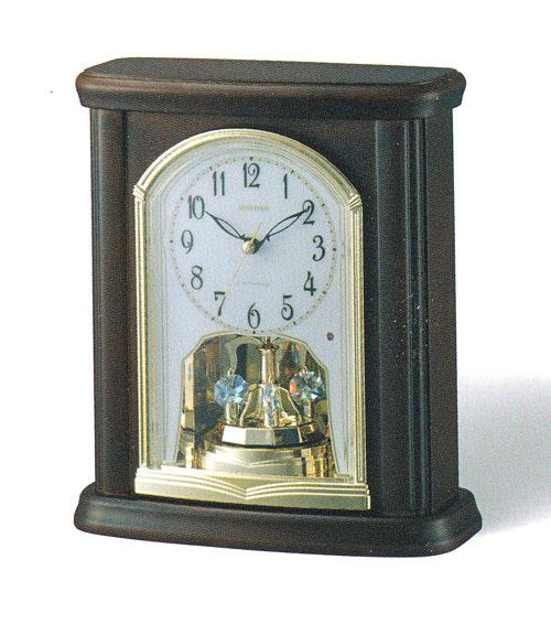「スーパーセールポイント5倍」回転飾り 置き時計 電波時計 リズム時計 RHYTHM 置時計 4RY697HG06 送料無料 文字入れ対応、有料 取り寄せ品