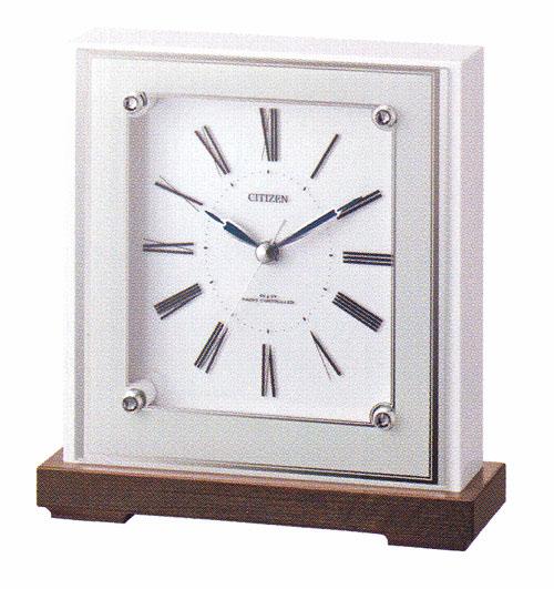 シチズン 置き時計 CITIZEN 電波時計 4RY706-003 電波置時計 文字入れ対応《有料》 取り寄せ品