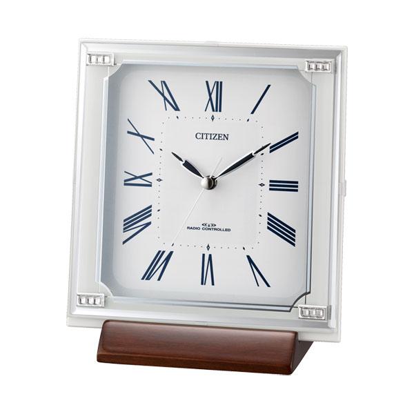 「スーパーセールポイント5倍」置き時計 シチズン CITIZEN 電波時計 4RY712-003 文字入れ対応、有料 取り寄せ品