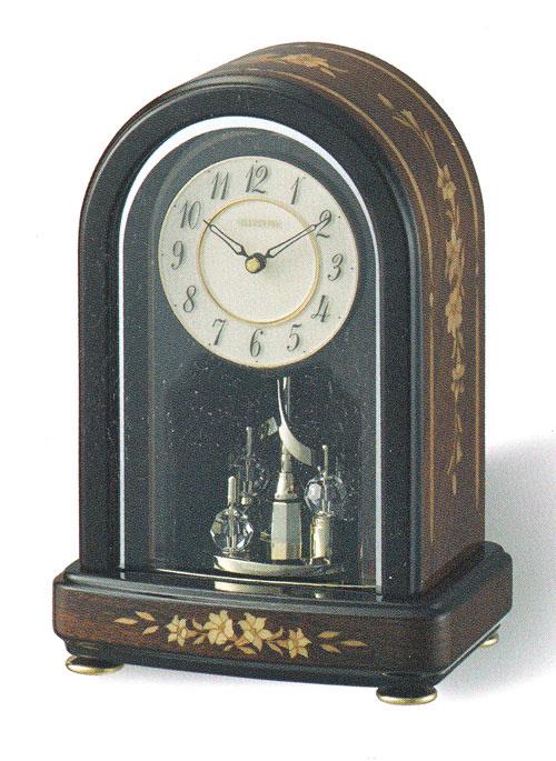 「スーパーセールポイント5倍」回転飾り 置き時計 リズム時計 RHYTHM 置時計 4SG786HG06 送料無料 文字入れ対応、有料 取り寄せ品