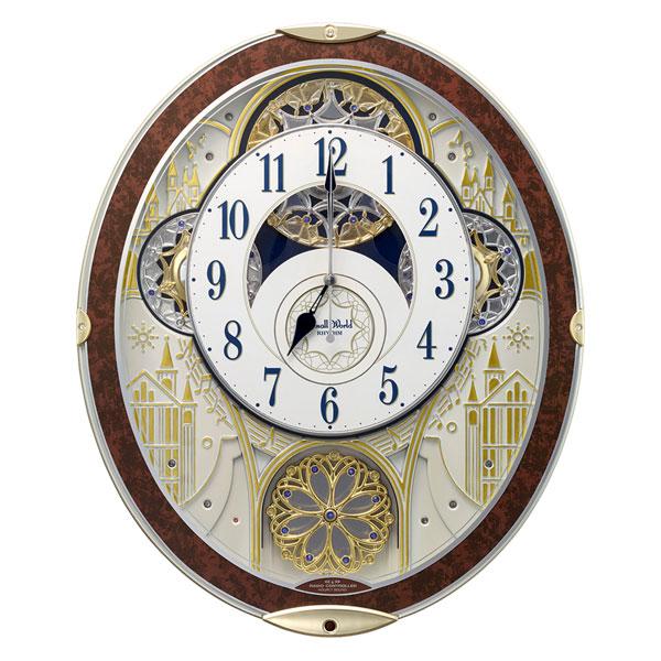 「20日21日限定ポイント5倍」からくり時計 メロディ 電波時計 スモールワールドノエルNS 8MN407RH03 リズム RHYTHM 文字入れ対応、有料 取り寄せ品