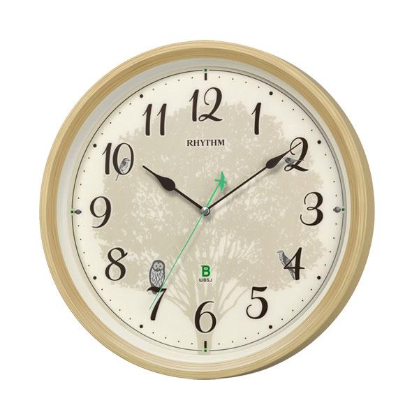 「スーパーセールポイント5倍」メロディ電波時計 四季の野鳥 報時 鳥のさえずり 鳥の鳴き声 壁掛け時計 8MN409SR06 掛時計 リズム時計 文字入れ対応、有料 取り寄せ品