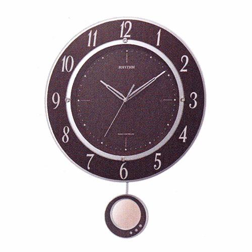 「スーパーセールポイント5倍」振り子付時計 壁掛け時計 電波時計 暗くなると秒針を止め音がしない 8MX403SR23 リズム RHYTHM 文字書き対応、有料 取り寄せ品