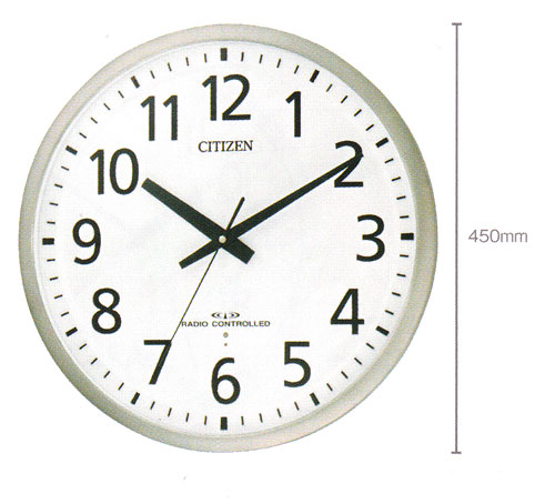 直径450mm オフィスタイプ 壁掛け時計 シチズン 電波時計 8MY463-019 文字入れ 名入れ 対応《有料》 取り寄せ品