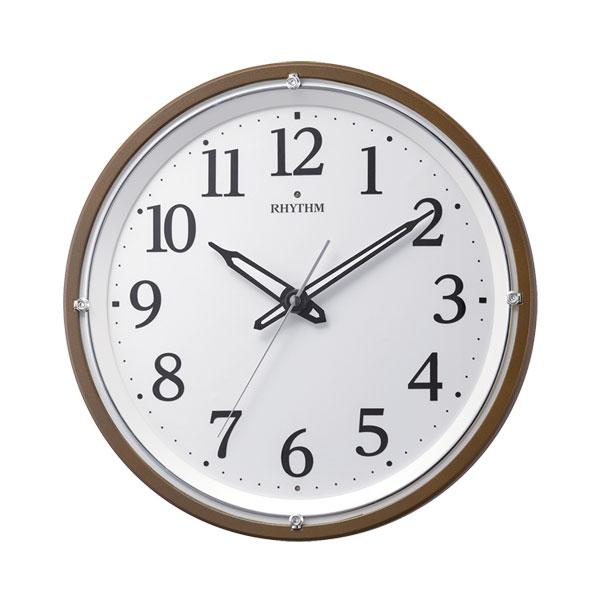 「スーパーセールポイント5倍」壁掛け時計 暗くなると文字板が光る 電波時計 8MY532SR06 文字入れ対応、有料 取り寄せ品