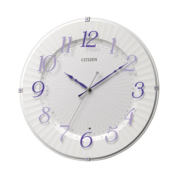 「スーパーセールポイント5倍」暗くなると秒針を止め 音がしない 壁掛け時計 電波時計 8MY537-012 連続秒針 スイープ CITIZEN シチズン 文字入れ対応、有料 取り寄せ品