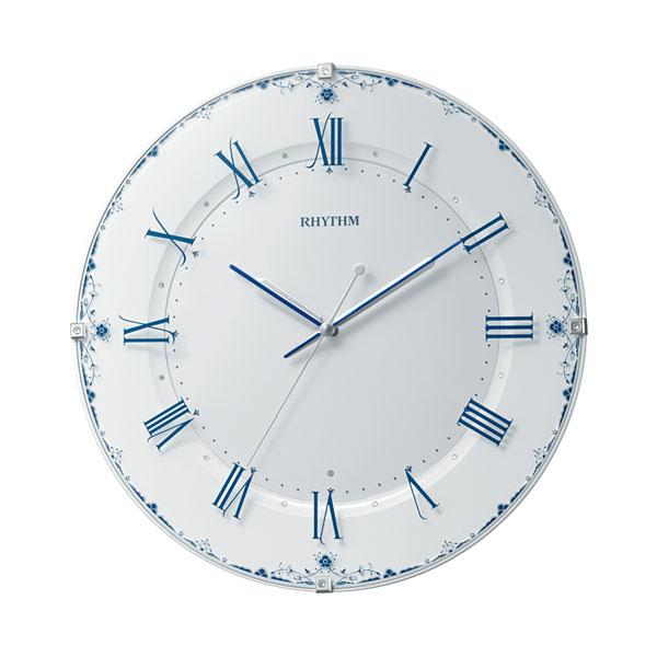 「スーパーセールポイント5倍」暗くなると秒針を止め 音がしない 壁掛け時計 電波時計 8MY539SR04 連続秒針 名入れ対応、有料 取り寄せ品