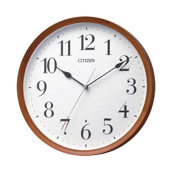 「スーパーセールポイント5倍」暗くなると秒針を止め 音がしない 壁掛け時計 電波時計 8MY540-006 連続秒針 スイープ CITIZEN シチズン 文字入れ対応、有料 取り寄せ品