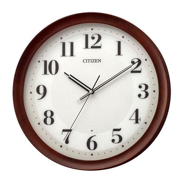 「スーパーセールポイント5倍」シチズン 電波時計 CITIZEN 暗くなると秒針 音のしない 壁掛け時計 8MY554-006 文字入れ対応、有料 取り寄せ品