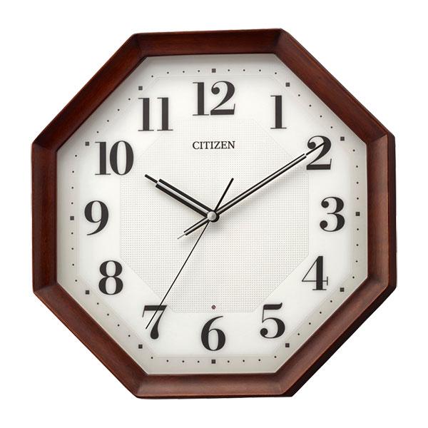 「スーパーセールポイント5倍」シチズン 電波時計 CITIZEN 暗くなると秒針 音のしない 壁掛け時計 8MY555-006 文字入れ対応、有料 取り寄せ品