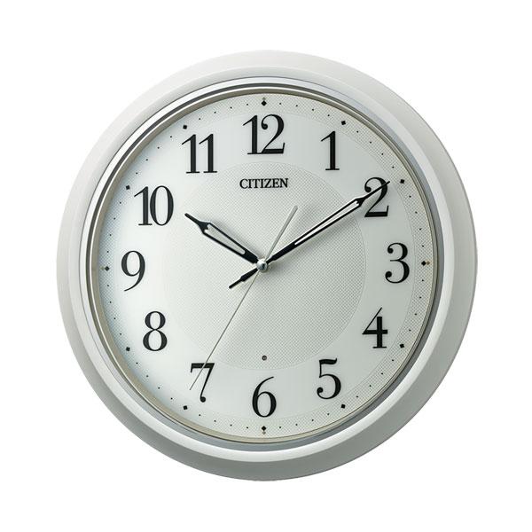 「スーパーセールポイント5倍」暗くなると秒針 音のしない 壁掛け時計 シチズン 電波時計 CITIZEN 8MY560-003 文字入れ対応、有料 取り寄せ品