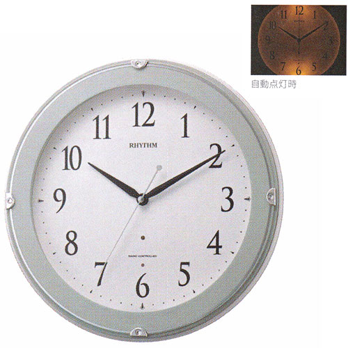 「スーパーセールポイント5倍」壁掛け時計 暗くなると文字板が光る 電波時計 8MYA23SR04  文字入れ対応、有料 取り寄せ品