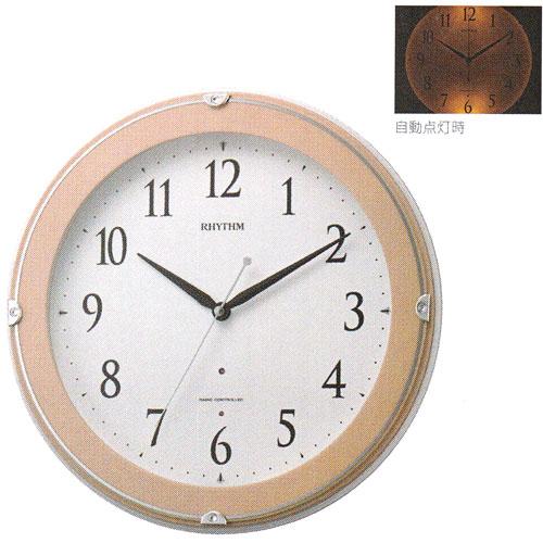 「スーパーセールポイント5倍」壁掛け時計 暗くなると文字板が光る 電波時計 8MYA23SR13  文字入れ対応、有料 取り寄せ品
