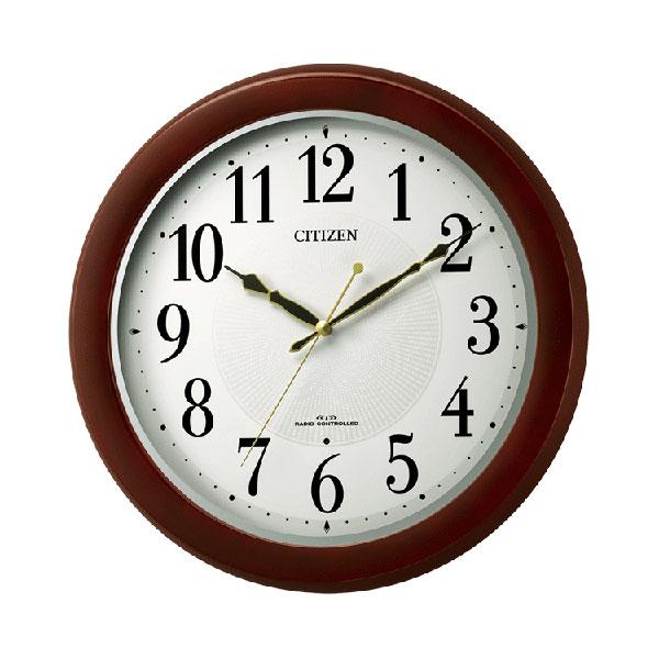 「スーパーセールポイント5倍」暗くなると秒針を止め 音がしない 壁掛け時計 電波時計 8MYA37-006 連続秒針 スイープ CITIZEN シチズン 文字入れ対応、有料 取り寄せ品