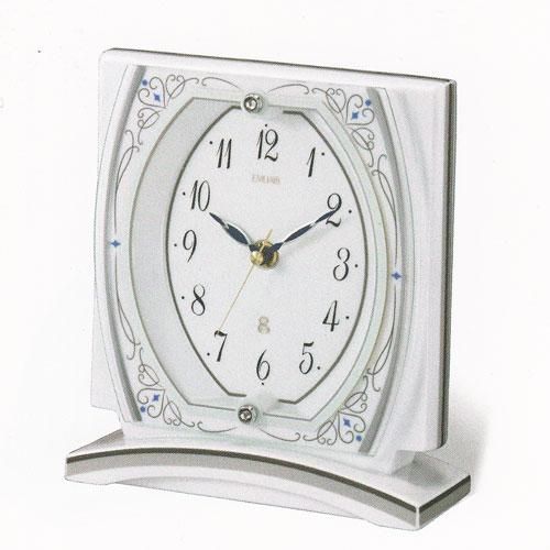 「スーパーセールポイント5倍」有田焼 置き時計 リズム時計 RHYTHM 置時計 8RG620EJ03 送料無料 取り寄せ品