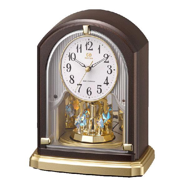「スーパーセールポイント5倍」置き時計 電波時計 リズム時計 RHYTHM 置時計 8RY414HG06 文字入れ対応、有料 取り寄せ品