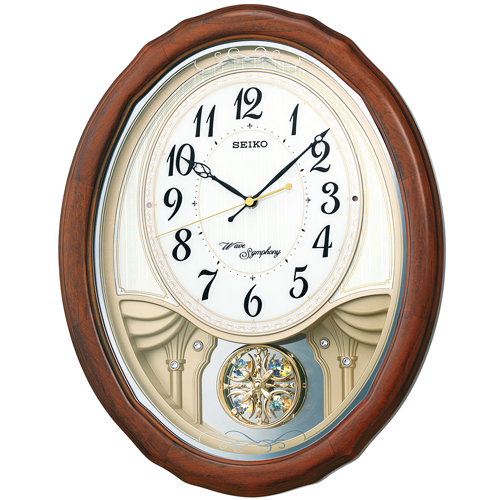セイコー メロディー電波掛時計 SEIKOウェーブシンフォニー AM257B 文字入れ名入れ対応《有料》 取り寄せ品