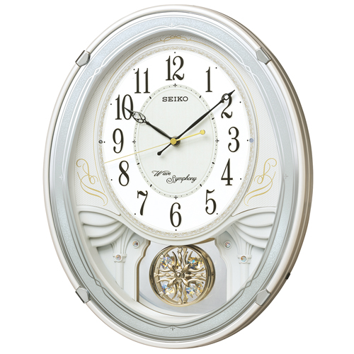 「スーパーセールポイント5倍」セイコー メロディー電波掛時計 SEIKOウェーブシンフォニー AM258W 取り寄せ品
