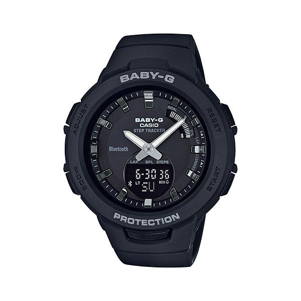 「マラソンポイント5倍」スマホと連携 歩数計付き 女性用 腕時計 カシオ ベビーG BSA-B100-1AJF CASIO Baby-G デジアナ 国内正規品  取り寄せ品
